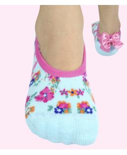 Nedrsne ABS nogavičke Modri vrtiček z mašnico